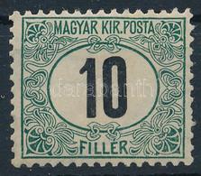 """** 1903 Zöldportó """"A"""" 10f (70.000) (1 Rövid Fog / 1 Perf. Short.) - Non Classificati"""