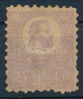 (*) 1871 Kőnyomat 25kr Halványibolya Színben, Gumi Nélkül (*140.000) (papírelvékonyodás, Foghibák, Elszíneződés / Thin P - Non Classificati