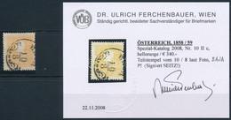 "O 1858 2kr II. Tipus Világos Narancs ""B(AJ)A"" (60.000) Certificate: Ferchenbauer - Non Classificati"