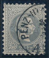 O 1867 25kr Jó Minőségű Szürkésibolya Bélyeg Aradi Pénzutalvány Bélyegzéssel (65.000) - Non Classificati