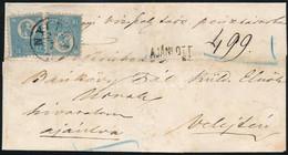 """1871 Ajánlott Levél 2 Db Kőnyomat 10kr Bélyeggel Bérmentesítve, """"NYITRA"""" (53.000) HAMISÍTVÁNY összehasonlító Célra / FOR - Non Classificati"""