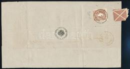 """1859 Retour Recepisse Nagyszombatról """"LIPTÓ ST.MIKLÓS""""-ra Küldött Ajánlott Levélről Rajta I. Tipusú 15kr + Hiányos Barna - Non Classificati"""
