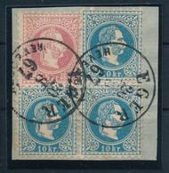 "1867 5kr + 3 X 10kr Kivágáson ""EGER HEVESBEN"" Certificate: Ferchenbauer - Non Classificati"