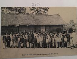 Cpa école Franco Annamite à Chaudoc (Cochinchine) - Vietnam