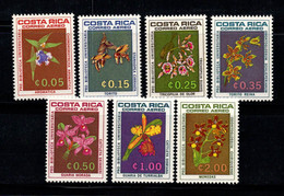 Costa Rica 1967 Mi. 711,713-718 Neuf ** 100% Poste Aérienne Flore, Fleurs - Costa Rica