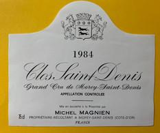 19627 - Clos Saint-Denis 1984 Michel Magnien Grand Cru De Morey-Saint-Denis - Bourgogne