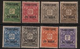 Niger - 1921 - Taxe TT N° Yv. 1 à 8 - Série Complète - Neuf Luxe ** / MNH / Postfrisch - Neufs