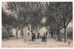 CREPOL (26) : PLACE DE LA MAIRIE - LE JEU DE BOULES - PETANQUE - ECRITE EN 1908 - 2 SCANS - - Other Municipalities