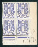 Lot 4524 France Coin Daté N°673 Chaînes Brisées  (**) - 1940-1949