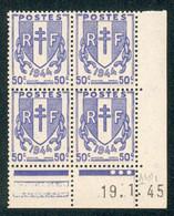 Lot 4529 France Coin Daté N°673 Chaînes Brisées  (**) - 1940-1949