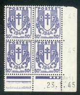 Lot 4531 France Coin Daté N°673 Chaînes Brisées  (**) - 1940-1949