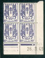 Lot 4539 France Coin Daté N°673 Chaînes Brisées  (**) - 1940-1949