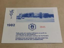 Carte, Fédération Nationale Des Majorettes, Vendu Ao Profit De  La À. P. E. M. H. Luxemburg - Otros