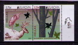 GRECIA 2011 - GREECE - GRECE - GRIECHENLAND - EUROPA -BOSQUES - 2 SELLOS SE-TENANT  (SIN DENTADO HORIZONTAL) - 2011