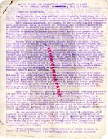87- LIMOGES- GUERRE 1939-1945- MUR - RESISTANCE-  ARCHIVE GASTON HILAIRE ALIAS LEONIE-LETTRE UNIVERSITE PARIS PETAIN- - War 1939-45
