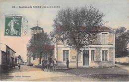 79 - ST LIGUAIRE ( Environs De NIORT ) Bureau De Poste ( PTT ) Animation - Jolie CPA Colorisée - Deux-Sèvres - Niort