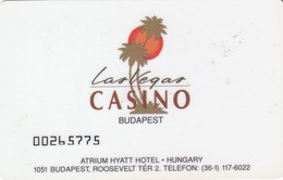 HUNGARY - Las Vegas Casino(flat Numbers), Member Card, Used - Casino Cards