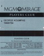 USA - MGM Mirage(reverse 3), Casino Member Card, Used - Casino Cards