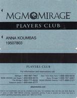 USA - MGM Mirage(reverse 2), Casino Member Card, Used - Casino Cards