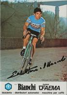 CARTE CYCLISME SALVATORE MACCALI SIGNEE TEAM BIANCHI 1979 - Cycling