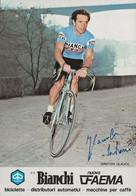 CARTE CYCLISME GLAUCO SANTONI SIGNEE TEAM BIANCHI 1979 - Cycling