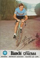 CARTE CYCLISME ALEX VAN LINDEN SIGNEE TEAM BIANCHI 1979 - Cycling