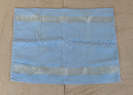 Italy Versace Vintage Tea Cloth - Versace 'SUN' Design & Gold Embroidery On The Side - NEW - Stoffabzeichen
