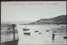 50 Manche CPA Environs De Cherbourg Omonville La Rogue Le Port Et Le Vieux Fort - Other Municipalities