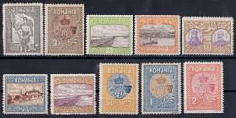 Romania 1913 Mi.#227/236 SILISTRA MNH - Nuevos