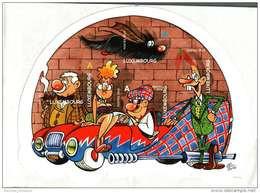 "Luxembourg Bloc Comics 2010 De 5 Timbres ""A"" Cartoon Dessins Roger Leiner +  Lucien Czuga - Blocchi & Foglietti"