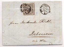 HOG388 - GERMANIA 1851 , 9 Kr Da Stuttgart 27/6/1854 Per L'Ungheria (16MRC) - Wurttemberg