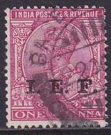 INDIAN EXPEDITIONARY FORCES 1914 SG E3 1a Used Optd I.E.F. Aniline Carmine - Military Service Stamp