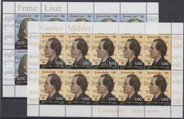 ** 2011 Liszt Ferenc és Gustav Mahler Kisívpár Mi 1726-1727 - Unclassified