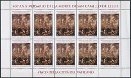 ** 2014 St. Camillus Halálának 400. évfordulója Kisív Mi 1818 - Unclassified
