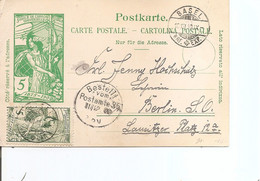 Suisse ( CP De 1900 De Bale  Vers L'Allemagne à Voir) - Covers & Documents