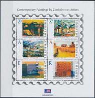 ** 2009 Festmény Kisív, Painting Mini Sheet Mi 913-918 - Unclassified
