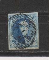 COB 7 Oblitéré P 62 HUY à 17 Barres Bien Margé - 1851-1857 Medallions (6/8)