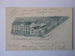 Brive, Corrèze, Manufacture De Chaussures Sol, Carte Publicitaire Avis De Passage Représentant - Brive La Gaillarde