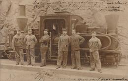 """Locomotive """"Quand-Même"""" - Carte Photo - Guerra 1914-18"""