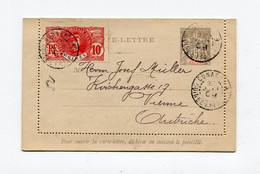 !!! GUINEE, ENTIER POSTAL CARTE LETTRE DE CONAKRY POUR L'AUTRICHE DE 1909 - Lettres & Documents