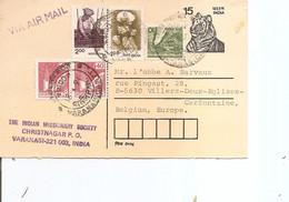 Inde ( EP De 1991 De Varanasi  Vers La Belgique à Voir) - Brieven En Documenten