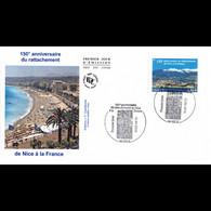 FDC - Rattachement De Nice à La France - Oblit 11/6/2010 Nice - 2010-2019