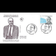 FDC - Georges Pompidou, Oblit 22/6/2011 Orvilliers - 2010-....