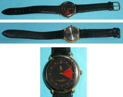 Rare Montre à Quartz Publicitaire Johnny Walker Whisky Watch, Bracelet Cuir - Orologi Pubblicitari