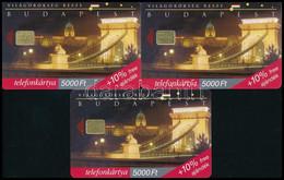 1999 3 Db Egyforma 5000 Ft-os Lánchíd Telefonkártya - Unclassified