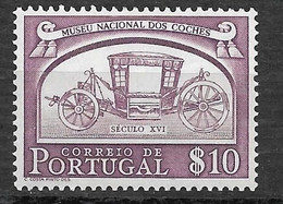 Portugal 1952 - Museu Nacional Dos Coches - Afinsa 741 - Unused Stamps