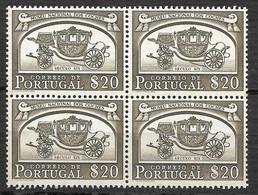 Portugal 1952 - Museu Nacional Dos Coches - Afinsa 742 QUADRA - Unused Stamps
