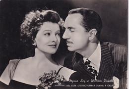 ATTORI CINEMA- MYRNA LOY E WILLIAM POWELL  - TRATTA DAL FILM   -CARTOLINA Fotografica  - FG- - Actors