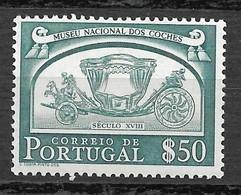 Portugal 1952 - Museu Nacional Dos Coches - Afinsa 743 - Unused Stamps