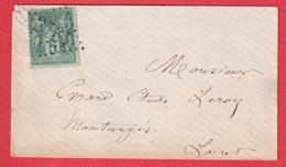 N°75 OBLITERATION GC 2764 JOUR DE L'AN POUR MONTARGIS LOIRET - 1877-1920: Semi Modern Period